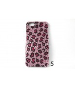 Fuchsia Leopard Print Crystal Case For  Iphone 5